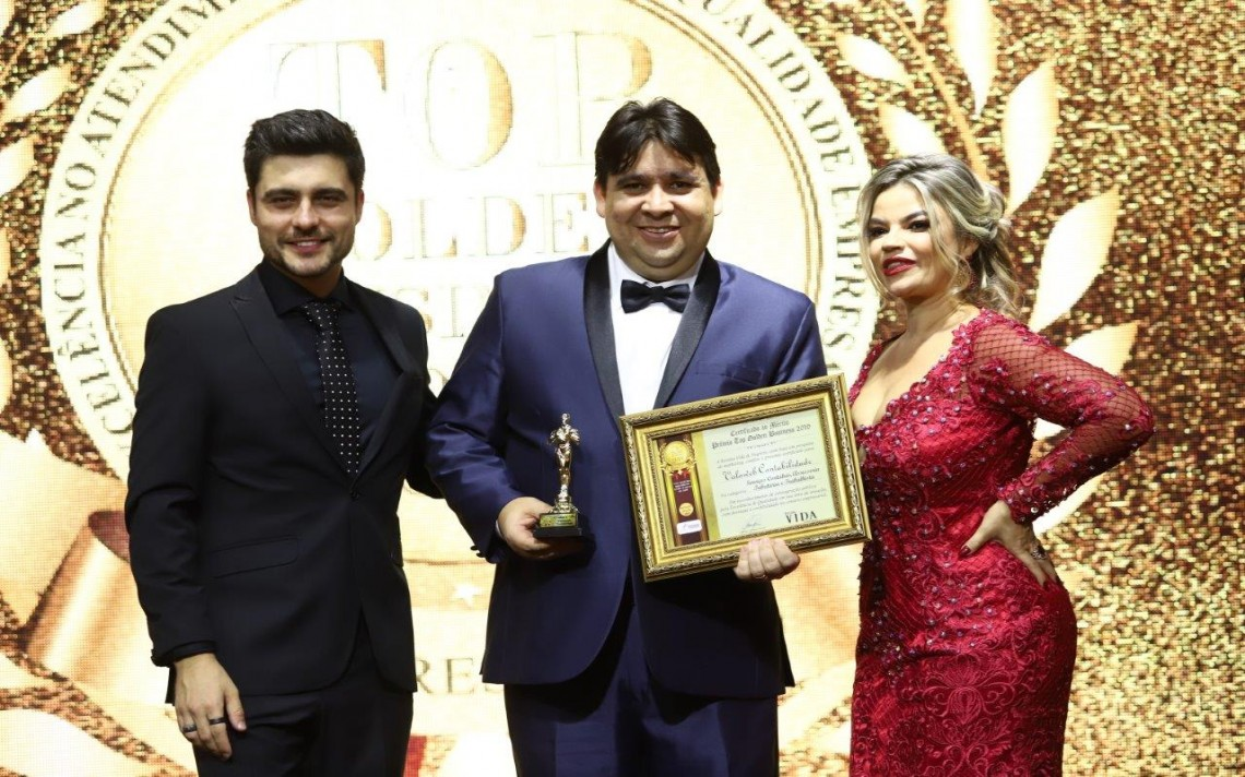O contador Adriano Barcellos, da Valoweb, um dos premiados no Top Golden Business